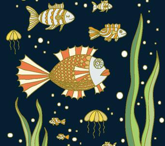 Kids Fish at Nightime