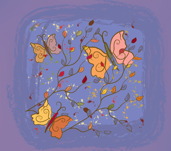 Kids Floral Butterflies