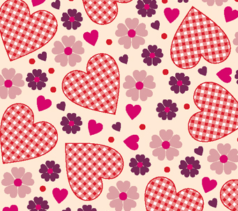 Kids Gingham Lovehearts