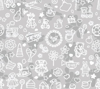 Kids Grey Toy Pattern