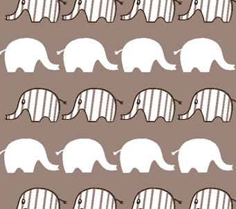 Kids Grey and White Elephant Pattern