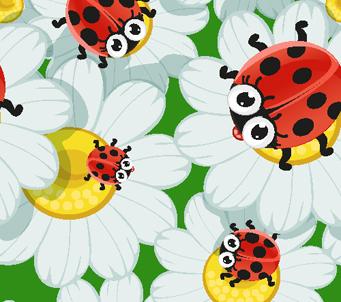 Kids Ladybug on Daisies