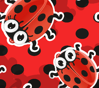 Kids Ladybugs on Spots