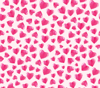 Kids Mini Pink Heart Pattern
