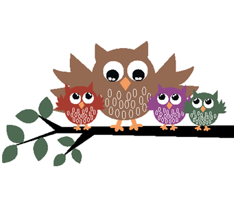 Kids Owl Family