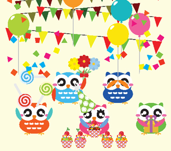 Kids Party Owls