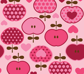 Kids Pink Apple Pattern