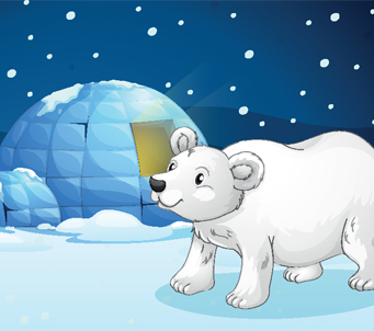 Kids Polar Bear with Igloo
