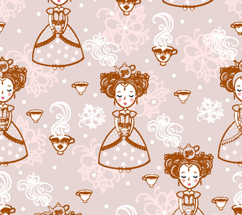 Kids Princess with Teapot