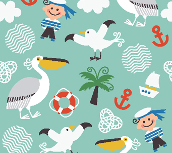 Kids Seashore Pattern