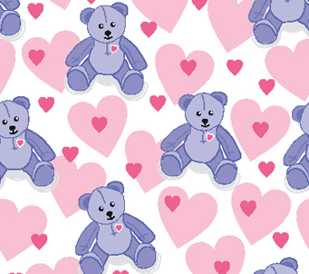 Kids Teddies and Hearts