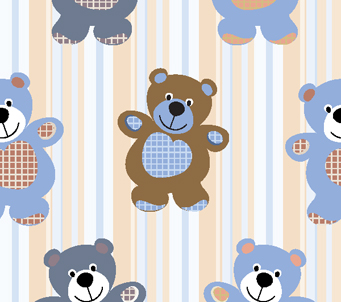 Kids Teddies and Stripes