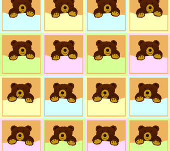 Kids Teddies on Baby Blanket