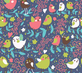Kids birdy pattern