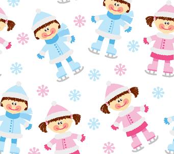 Kids on skiis