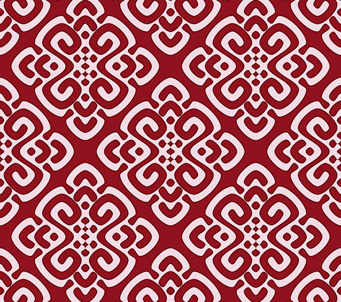 Maroon Demask Pattern