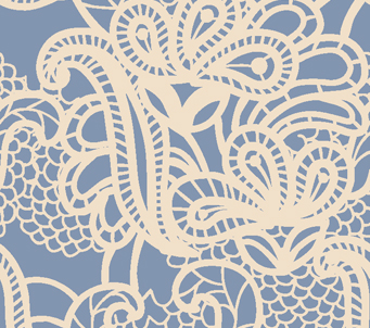 Modern Blue Lace Pattern