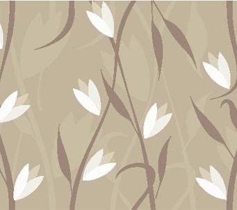 Modern Grey Floral Print