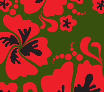 Red Pansies Pattern