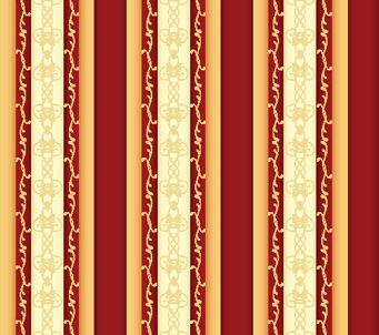 Red and Gold Vintage Stripe