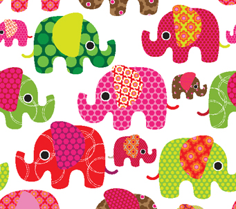 Retro Kids Elephants