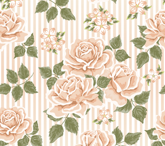 Roses and Stripes Pattern