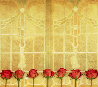 Roses on Art Deco Window