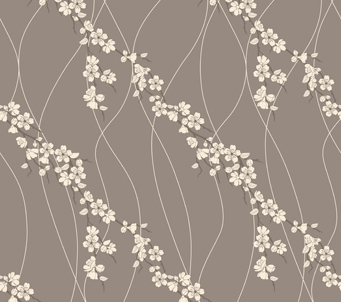 Sakura Flowers and Lines Pattern