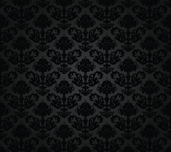 Seamless charcoal floral wallpaper