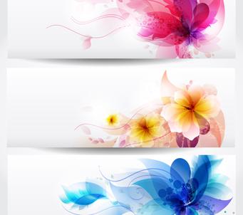 Set of Floral Strips
