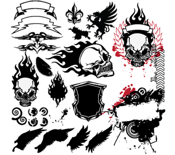 Skull Tattoo Elements