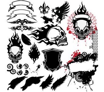 Skull Tattoo Elements