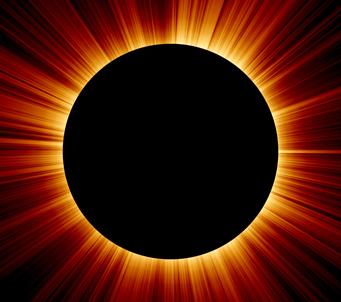 Solar Eclipse Rays