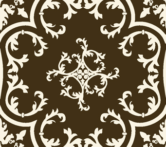 Victorian Pattern Brown and White