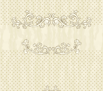 Victorian Polka Dot Beige and White