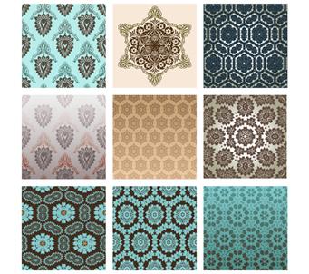 Vintage Pattern x 9