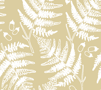 Wallpaper Fern and Acorns