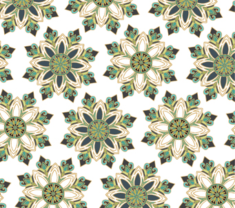 Wallpaper Green Snowflakes