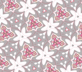 Wallpaper Lilac Kaleidoscope