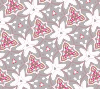 Wallpaper Lilac Kaleidoscope