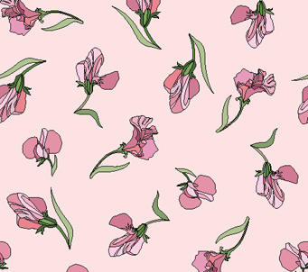 Wallpaper Pink Sweetpeas