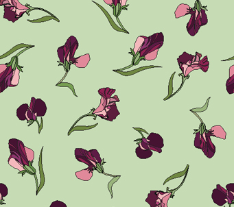 Wallpaper Violet Sweetpeas