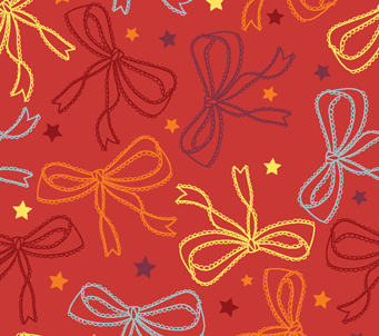 Wallpaper brown bows