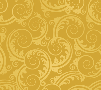 Wallpaper golden swirls and leaves