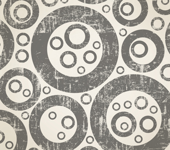 Wallpaper printed grey circles