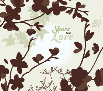 Wallpaper share your love brown flowers