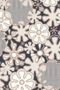 White Flower Grey background Retro