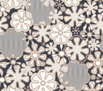 White Flower Grey background Retro