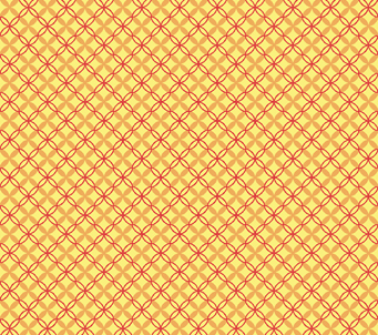 Yellow Flower Check Pattern